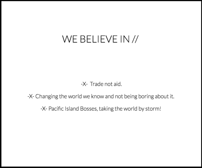 Trade Not Aid The Projects Collective Fiji