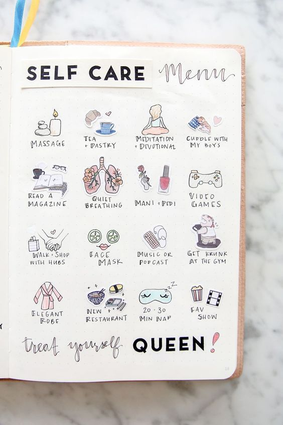 Self Care Menu