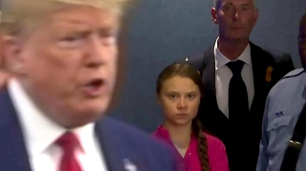 Greta Thunberg's searing look at Trump takes over the internet